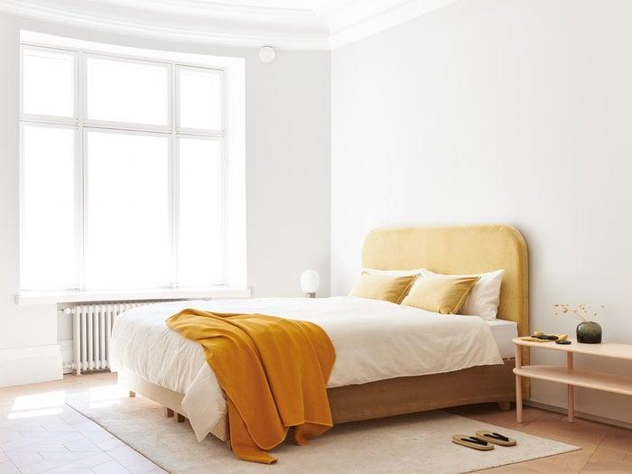 Bedroom Summer Matri Beige Nature Yellow Wool Ash Cotton