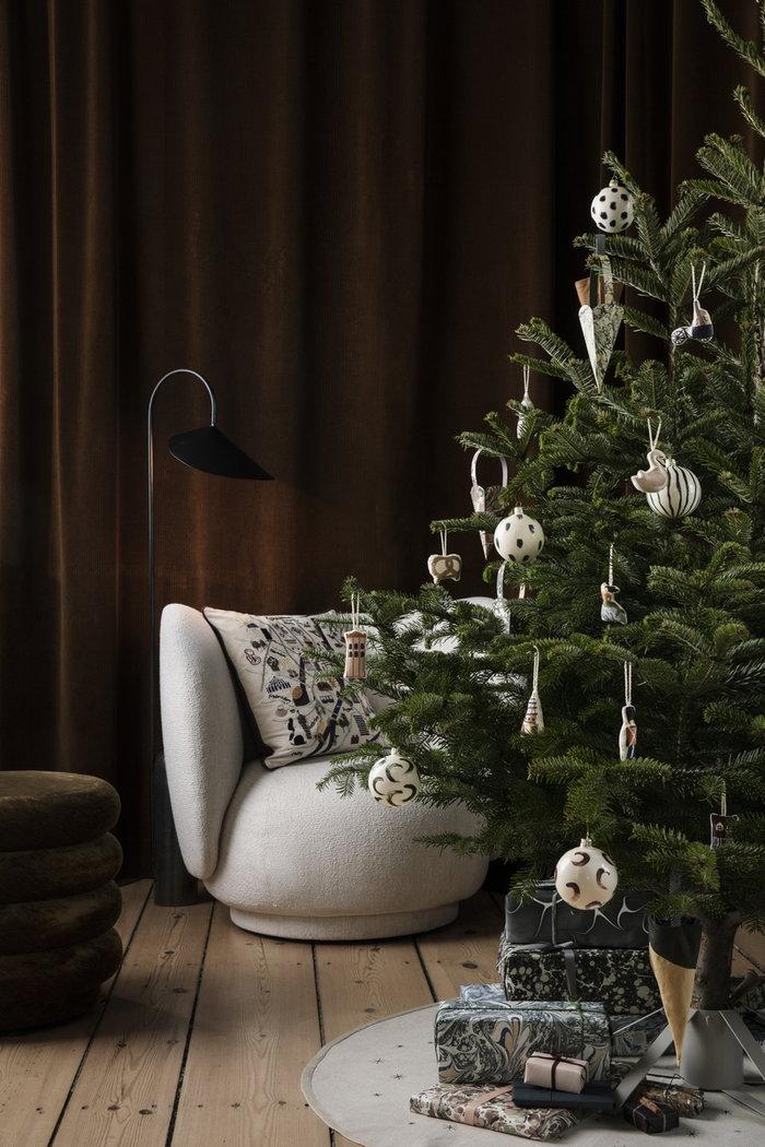 Natale Ferm Living Multicolore Naturale Marrone Blu Verde Grigio Cotone Vetro Acciaio