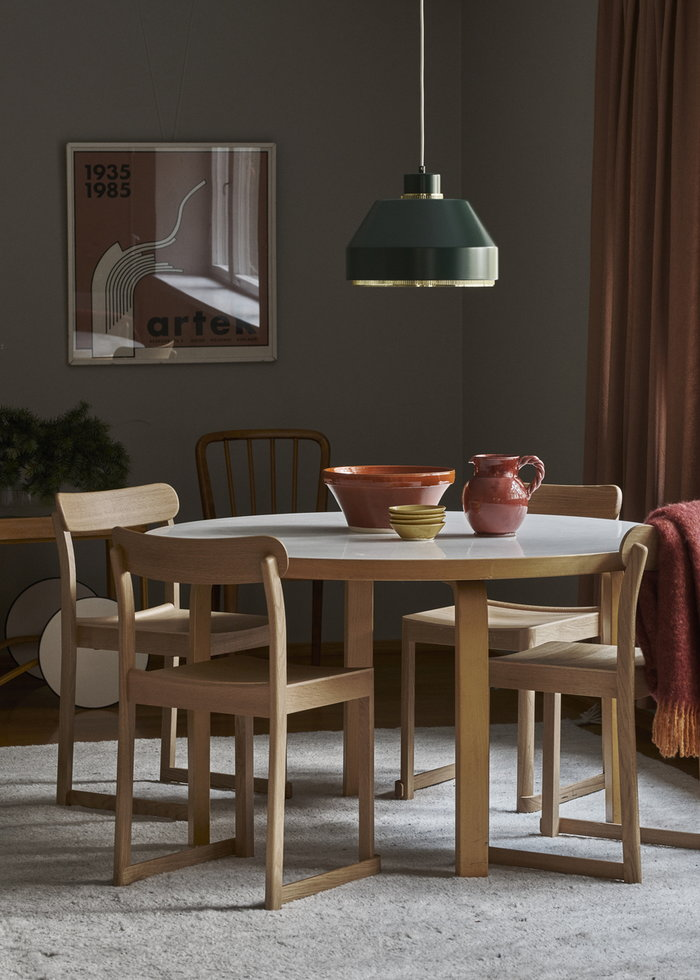 Holidays Diningroom Artek White Nature Green Birch Oak Steel Aalto tables