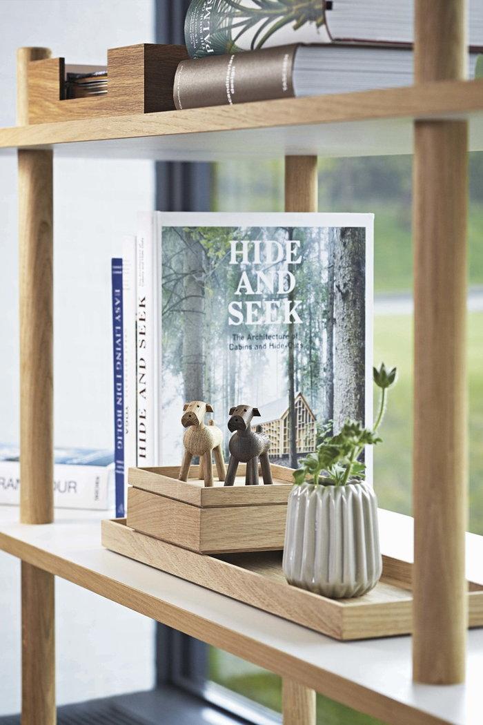 Viherkasvit Sisustusyksityiskohta Kay Bojesen Luonnonväri Ruskea Tammi Puuesineet