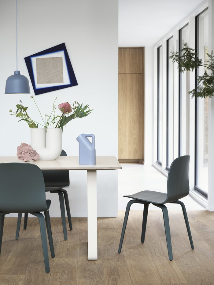 Diningroom Muuto Blue Black White Grey Green Beige Ceramic Wood 70/70 Visu