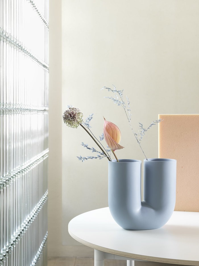 Houseplants Diningroom  Muuto Blue Ceramic