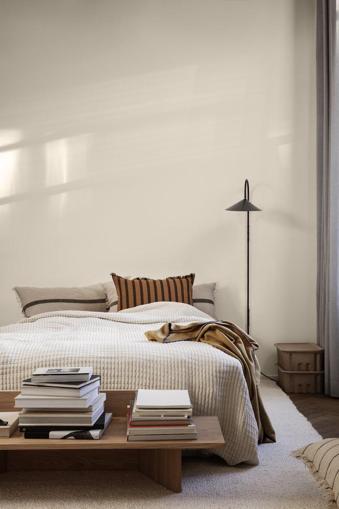 Makuuhuone Ferm Living Ruskea Luonnonväri Musta Beige Paperi Tammi Puuvilla Teräs