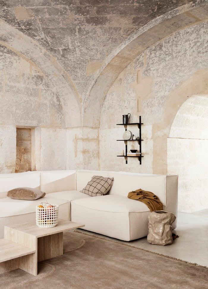 Salotti Gestionespazio Dettaglioarredamento Ferm Living Bianco Beige Ceramica Cotone