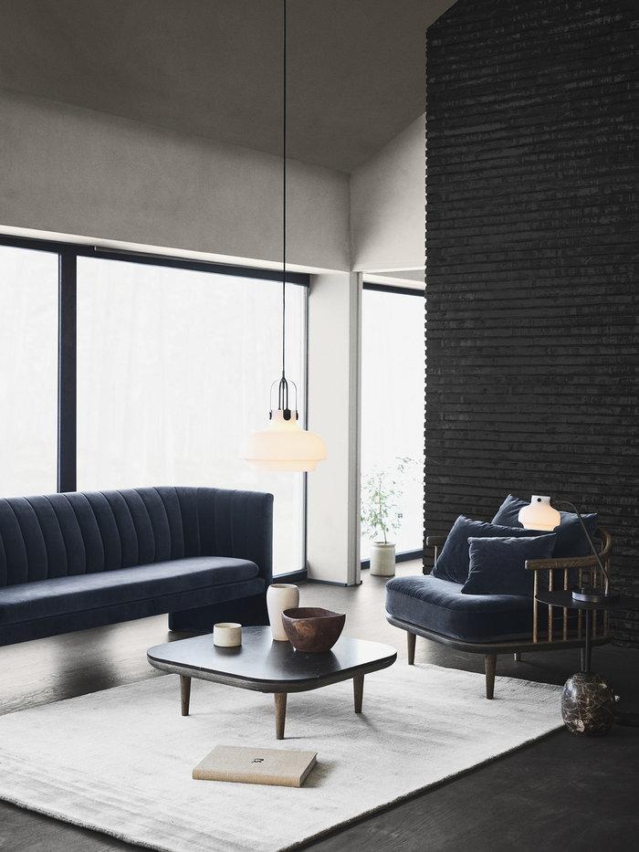 Livingroom &Tradition White Black Blue Metal Marble Oak Wood Copenhagen Fly