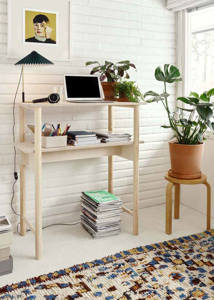 Office Houseplants Artek Vitra Hay Made by Choice Nature White Green Birch Plastic Metal Aalto stools Toolbox