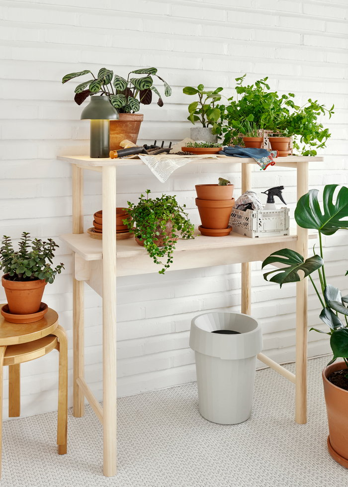 Office Houseplants Artek Hay Made by Choice Nature Green Grey White Birch Plastic Ash Aalto stools