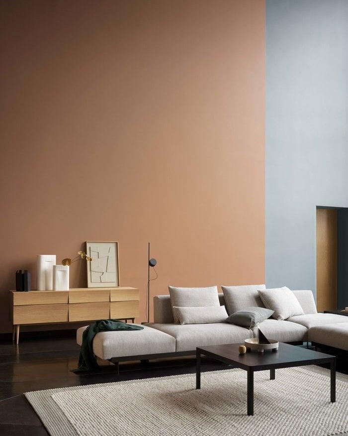 Livingroom  Autumn Muuto Nature Grey Black Oak Wool Metal Reflect