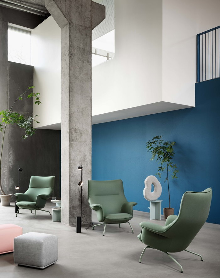 Livingroom Houseplants  Muuto Black Green Metal Composite