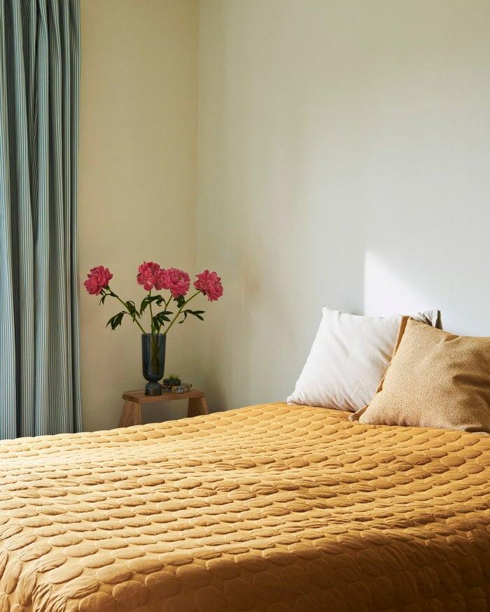 Bedroom Hay Blue Yellow Glass Cotton