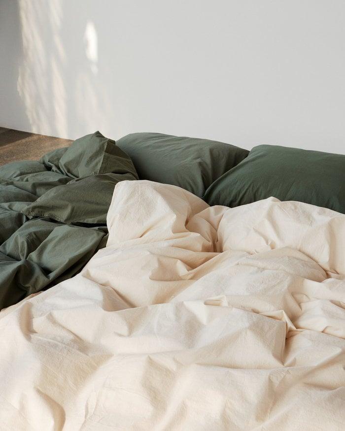 Bedroom Tekla Green White Cotton