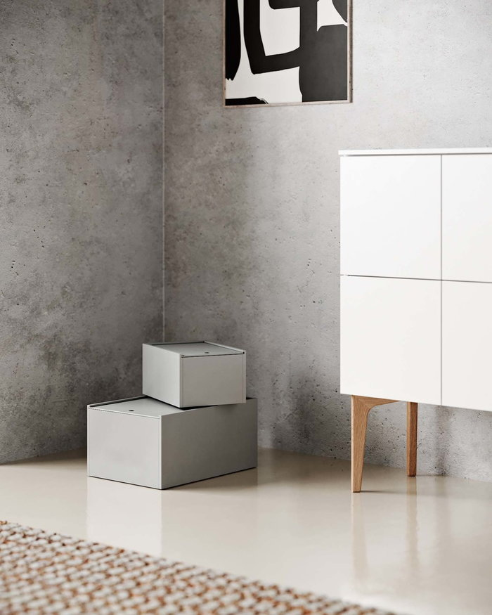 Storage  Lundia Paper Collective White Grey Black Wood Pine System