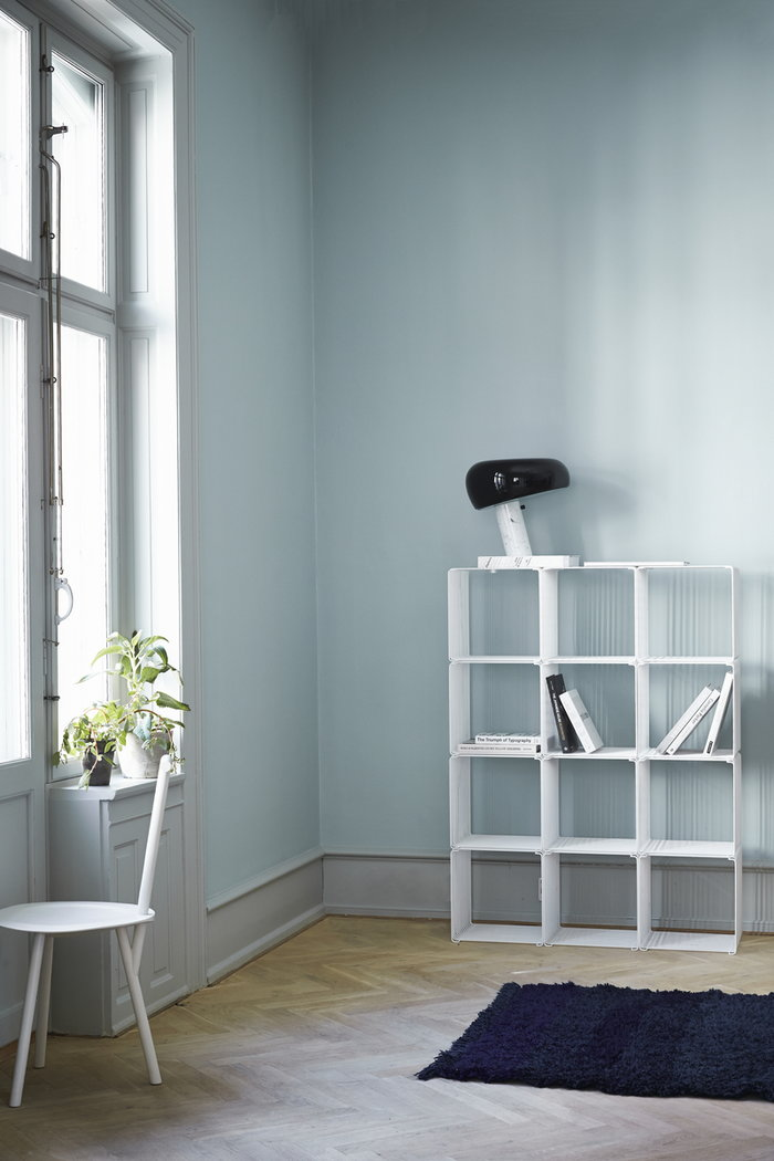 Gestionespazio  Flos Montana Furniture Nero Bianco Marmo Acciaio