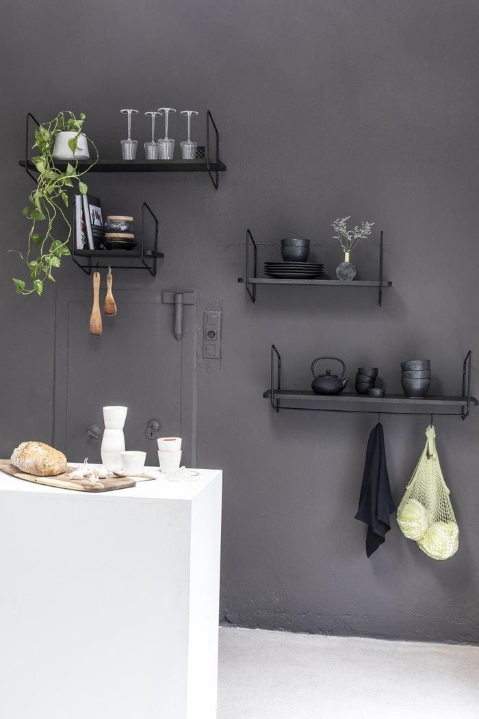 Cucina Fólk Reykjavík Nero Frassino Acciaio
