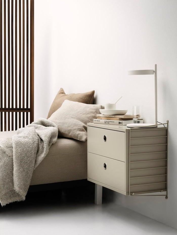 Storage Bedroom String Furniture Beige String System