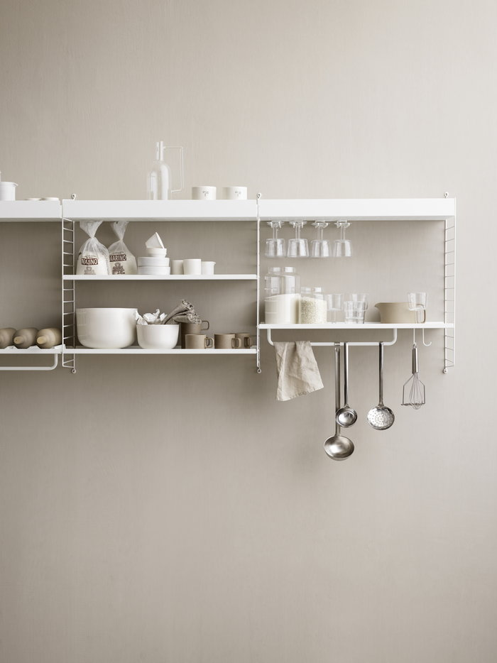 Kitchen Storage String Furniture White Metal String System
