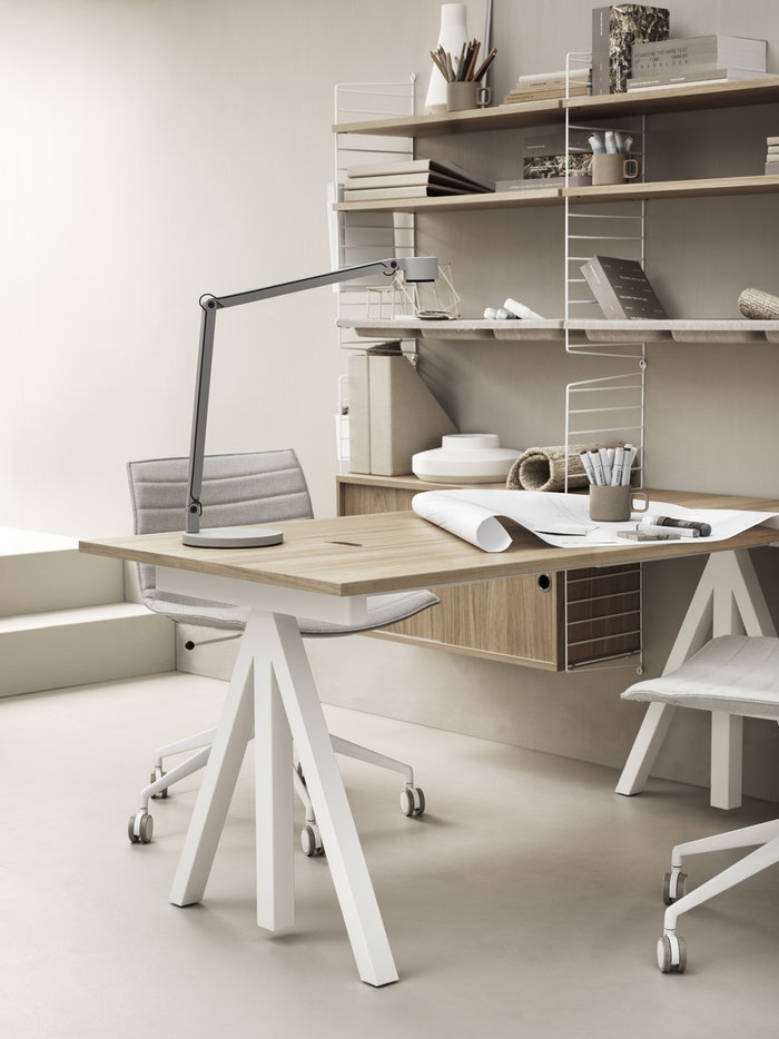 Office Storage String Furniture White Nature Beige Steel Oak Felt String System String Works