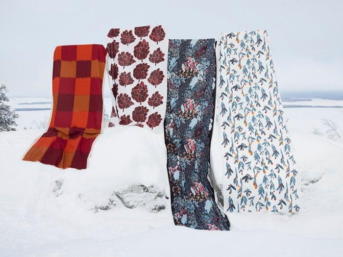 Joulu Marimekko Punainen Monivärinen Puuvilla