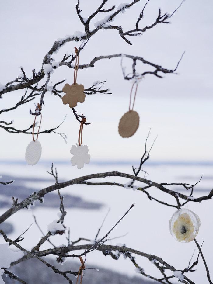 Natale Marimekko Marrone Bianco Ceramica