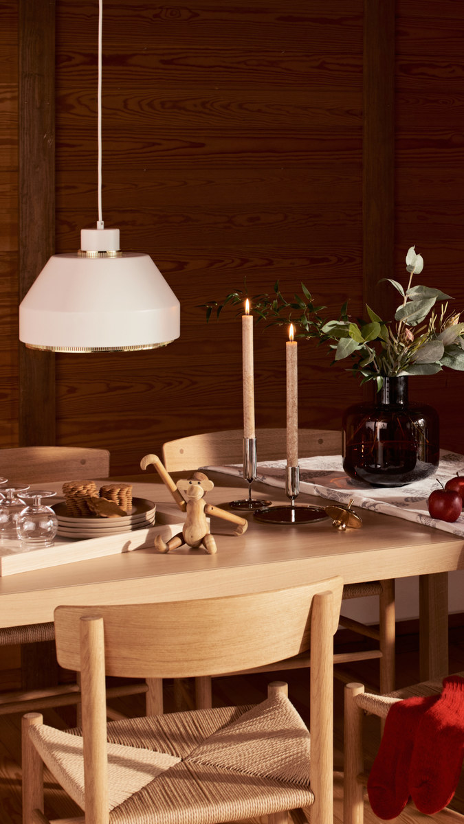 Holidays Holiday2020 Artek Ferm Living Fredericia Georg Jensen Karakter Marimekko Muuto Kay Bojesen Skultuna Skagerak White Beige Nature Metal Clear Brown Brass Steel Oak Stainless Steel Glass Ceramic