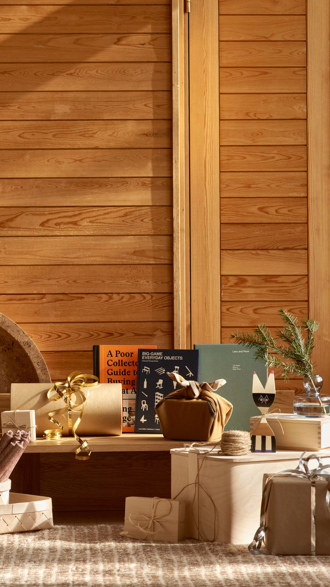 Holidays Holiday2020 Vitra Ferm Living Gestalten Lars Müller Publishers Marimekko Verso Design Woodnotes Nature Multi colour Brown Blue Cork Wood Oak Paper Glass Birch Wool Wooden objects
