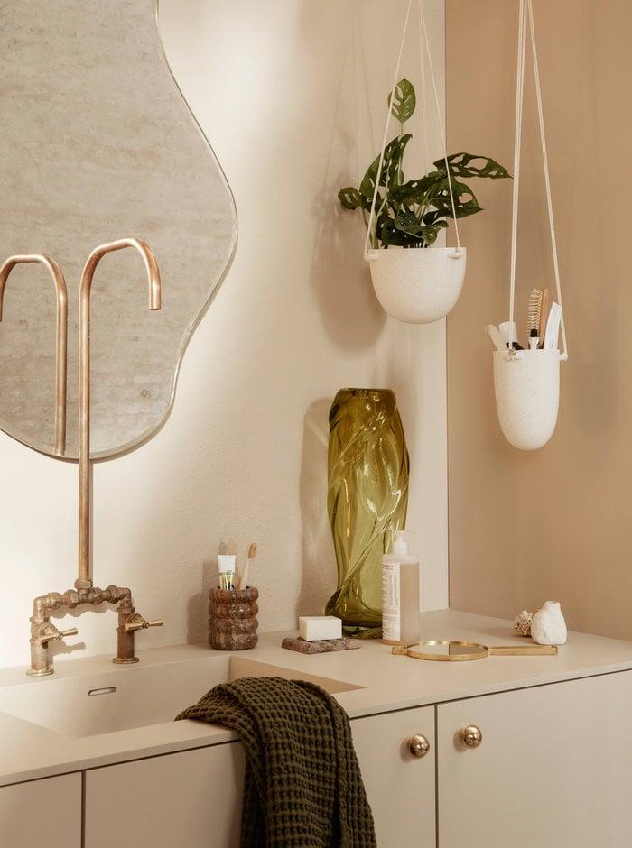 Viherkasvit Kylpyhuone Ferm Living Musta Valkoinen Lasi Keramiikka