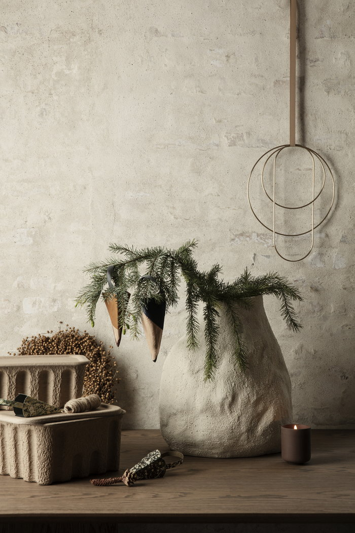 Holidays Ferm Living White Brown Ceramic Paper