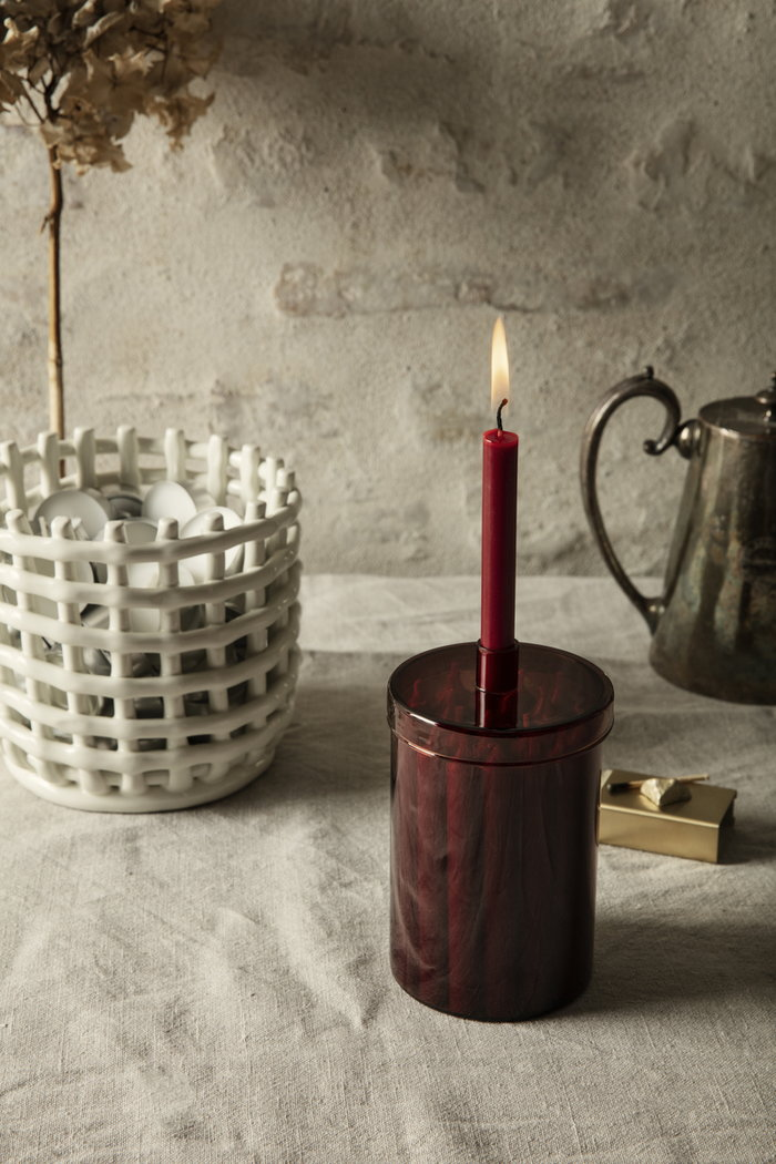 Holidays Ferm Living Brass White Red Ceramic