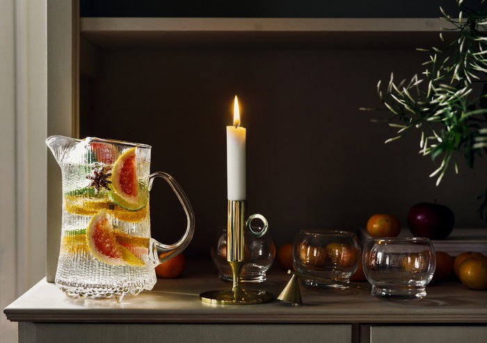 Tablesetting Holidays Candles Ferm Living Iittala Normann Copenhagen Skultuna Brass Clear Glass Ultima Thule