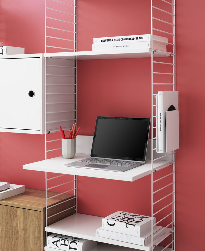 Office String Furniture White Grey Wood
