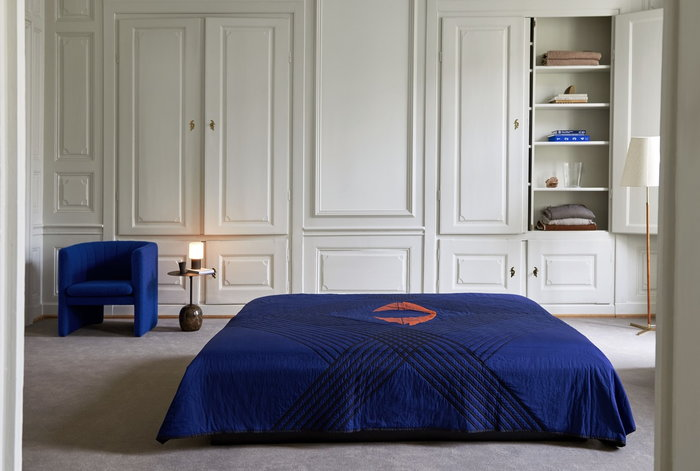 Bedroom &Tradition Blue Black Cotton Marble