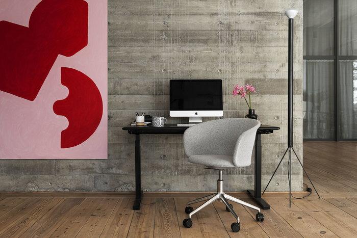 Office Hem Grey Black Aluminium Metal