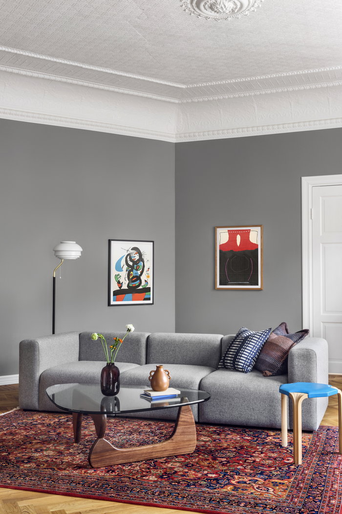 Livingroom Graphic Art Vitra Artek Hay Johanna Gullichsen Katriina Nuutinen Paper Collective Røros Tweed Art Partners Finland Nature White Grey Blue Purple Multi colour Walnut Steel Cotton Glass Oak Wool Paper Mags