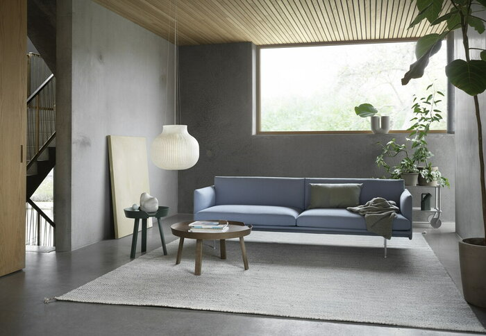 Livingroom Muuto White Brown Plastic Wood