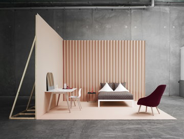 Makuuhuone Hay Musta Valkoinen Teräs Tammi Tarjotinpöydät About a Chair Copenhague