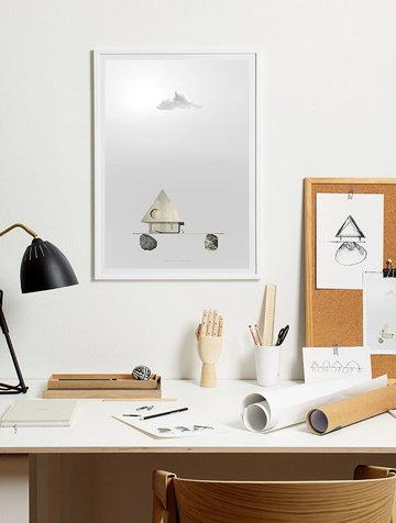 Puntilavoro Poster Muuto Paper Collective Naturale Grigio Rovete Carta Cover Poster