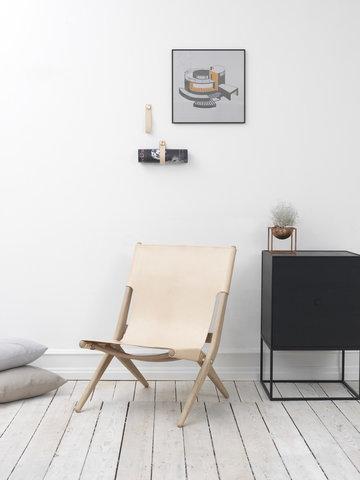 Olohuoneet By Lassen Kupari Musta Luonnonväri Alumiini Nahka Saarni Kubus Illustrate Stropp Frame Saxe