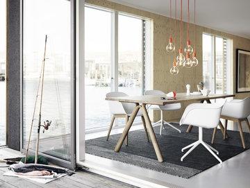 Ruokailutilat Kesäkoti Muuto Harmaa Valkoinen Luonnonväri Oranssi Komposiitti Varjo Fiber Chair E27
