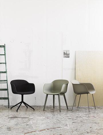 Sisustusyksityiskohta Muuto Harmaa Vihreä Musta Komposiitti Fiber Chair