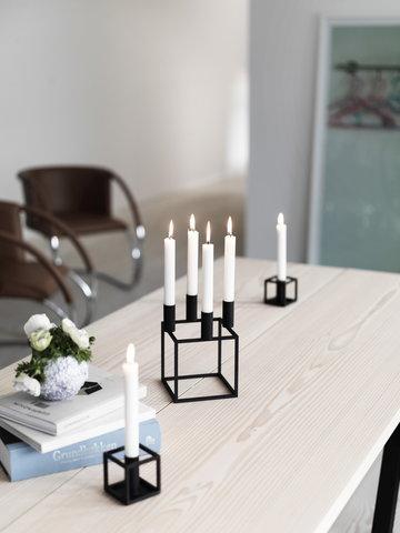 Kynttilät By Lassen Musta Kubus