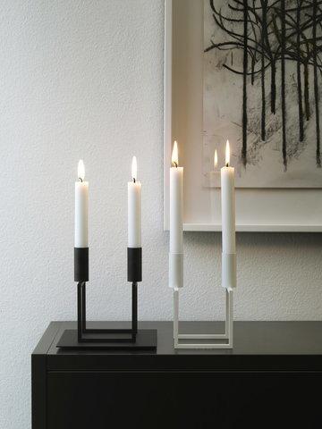 Kynttilät By Lassen Musta Valkoinen Kubus
