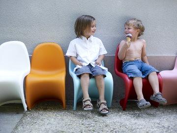 Lastenhuoneet Ulkokalusteet Vitra Valkoinen Vaaleanpunainen Sininen Muovi Panton