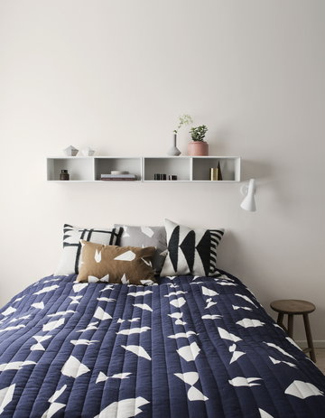 Makuuhuone Kesäkoti Ferm Living Ruskea Musta Betoni Villa Kelim