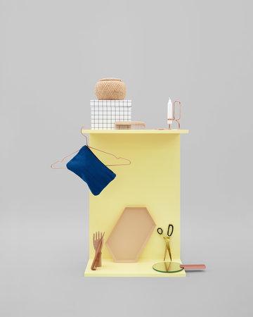 Sisustusyksityiskohta Kynttilät Hay Kupari Messinki Sininen Punainen Ruostumaton teräs Teräs Hang it all Mirror Mirror Box Box Kaleido Lup