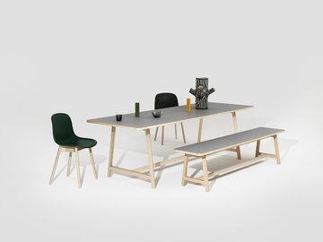 Ruokailutilat Hay Musta Harmaa Keltainen About a Chair Ori