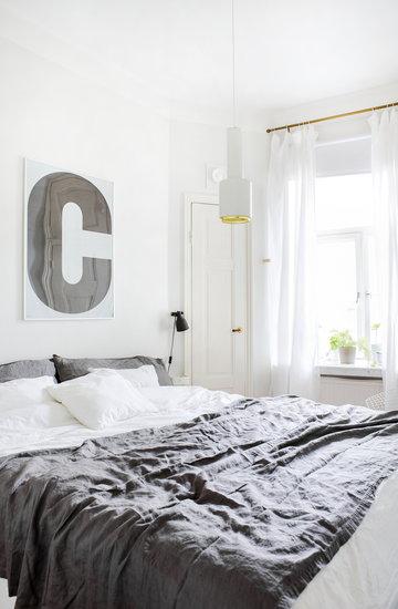 Makuuhuone Kesäkoti Artek Playtype Valkoinen Harmaa Alumiini Paperi Aalto valaisimet ABCD Collection