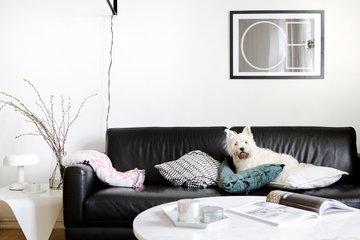 Olohuoneet Artek Hay Hem Valkoinen Turkoosi Monivärinen Musta Koivu Teräs Villa Pellava Trienna Kaleido Mega Knit Scribble