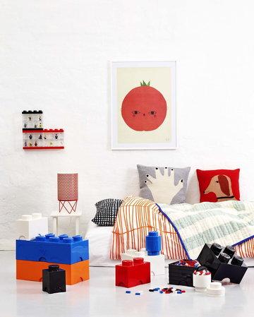 Lastenhuoneet Säilytys Kesäkoti Gubi Room Copenhagen Punainen Musta Valkoinen Sininen Oranssi Metalli Muovi Pedrera Lego