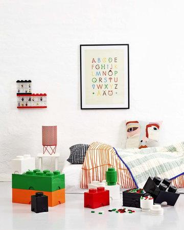 Lastenhuoneet Gubi Room Copenhagen Punainen Musta Valkoinen Vihreä Oranssi Sininen Metalli Muovi Pedrera Lego