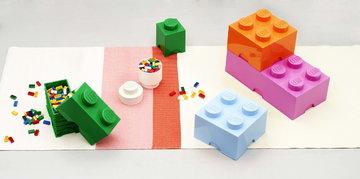 Stanzadeibambini Gestionespazio Room Copenhagen Blu Arancione Rosa Bianco Plastica Lego